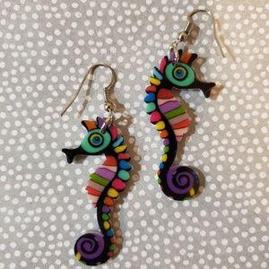 Adorable Colorful Seahorse Earrings